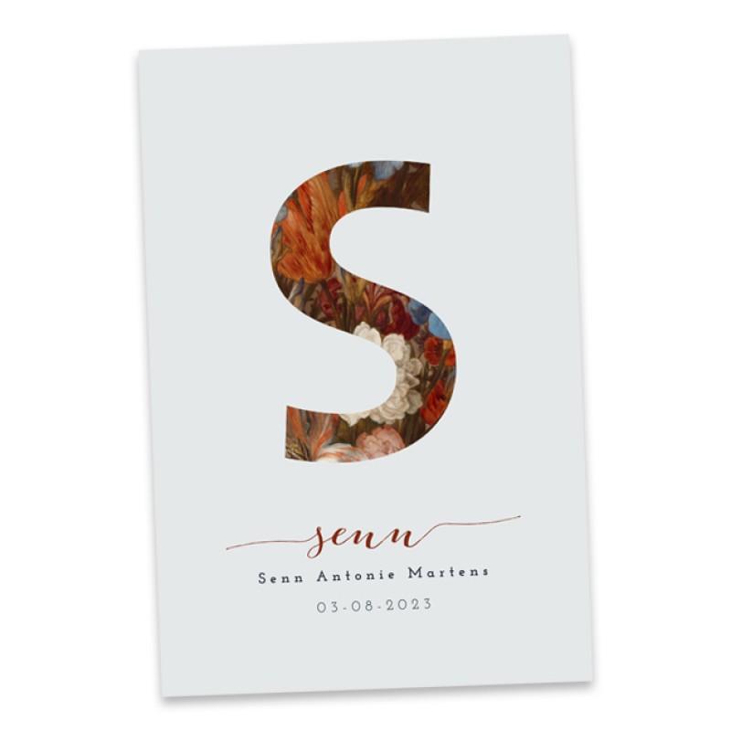Geboortekaartje Typografisch kaartje