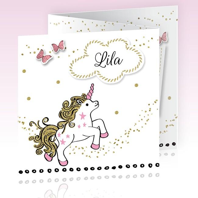 Geboortekaartje Unicorn meisje