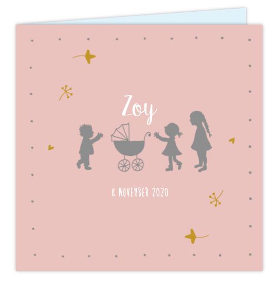 Geboortekaartje Vierde kindje