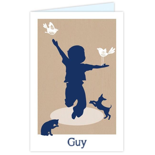 Geboortekaartje Vrolijk kaartje jongetje