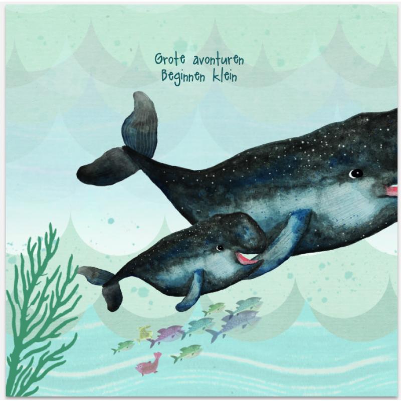 Geboortekaartje Walvis Geboortekaartje