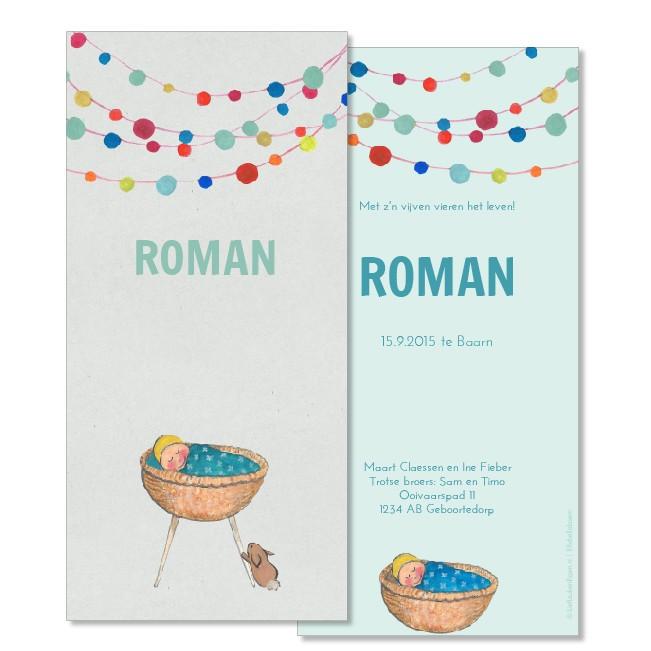 Geboortekaartje Welkom kindje!  |  Roman