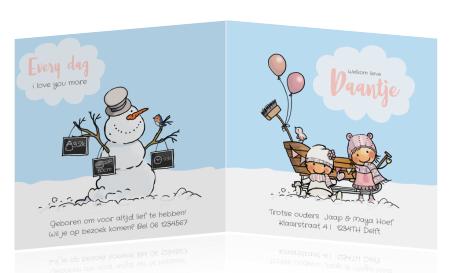 Geboortekaartje Winter Geboortekaartje