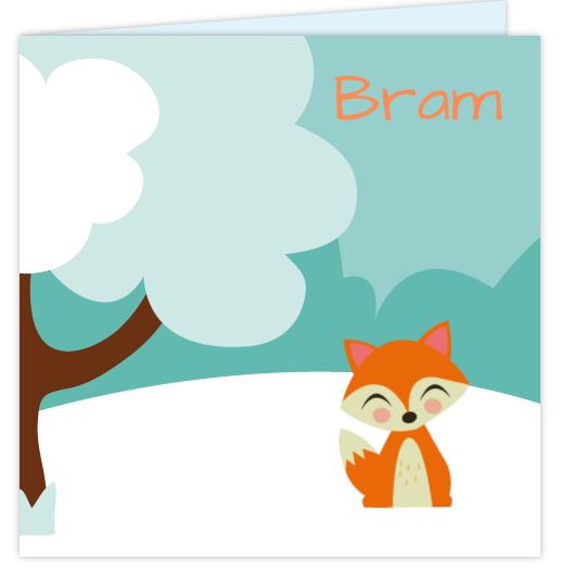 Geboortekaartje Winter Vosje Geboortekaart