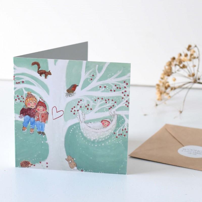 Geboortekaartje Winters thema  |  Fedde