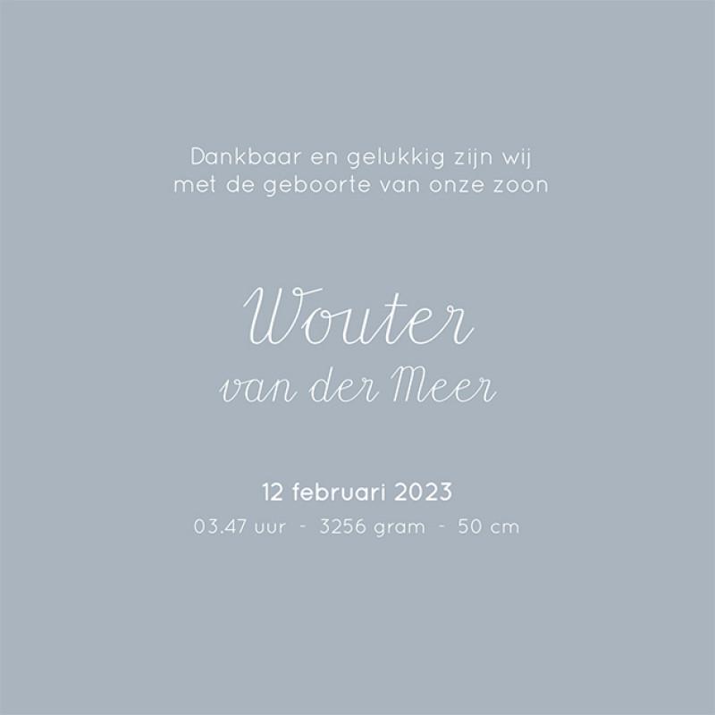 Geboortekaartje Wouter