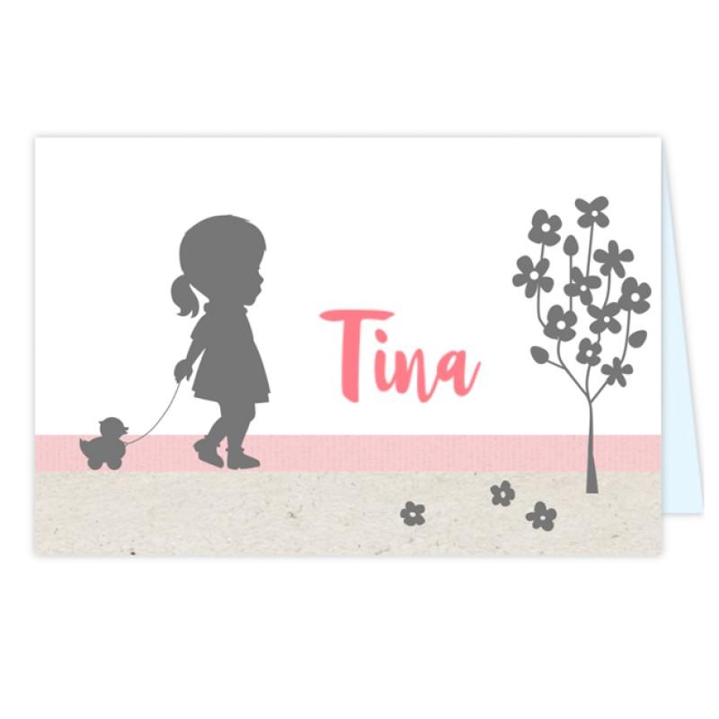 Geboortekaartje Wow kaartje meisje