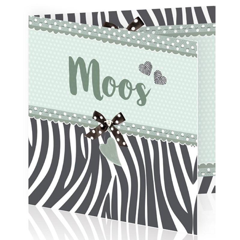 Geboortekaartje Zebra print