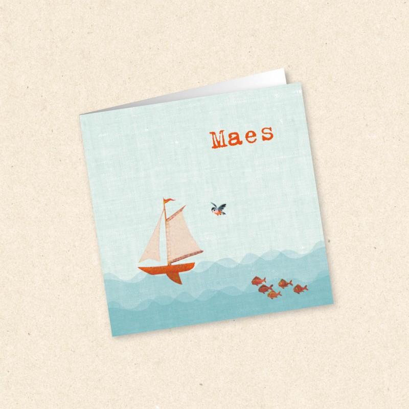 Geboortekaartje Zeilbootje voor jongentje