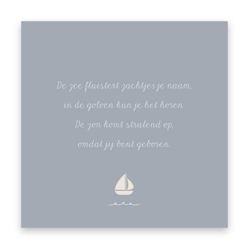 Geboortekaartje Zeilbootjes en golven