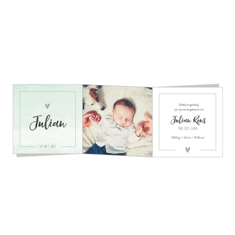 Geboortekaartje   Zigzag met foto