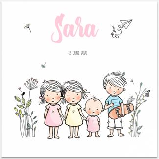 Geboortekaartje 4e kindje