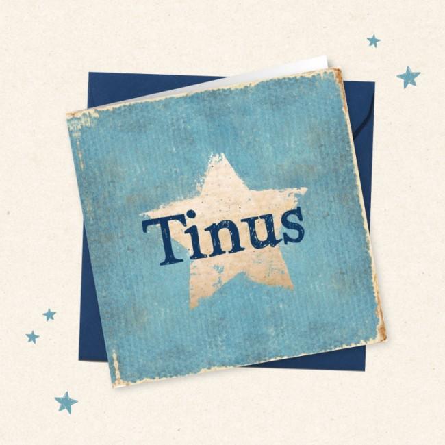 Geboortekaartje Blauw met stoere ster