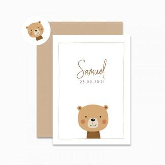 Geboortekaartje Bruine beer