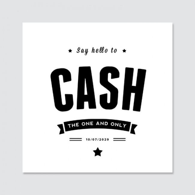Geboortekaartje Cash