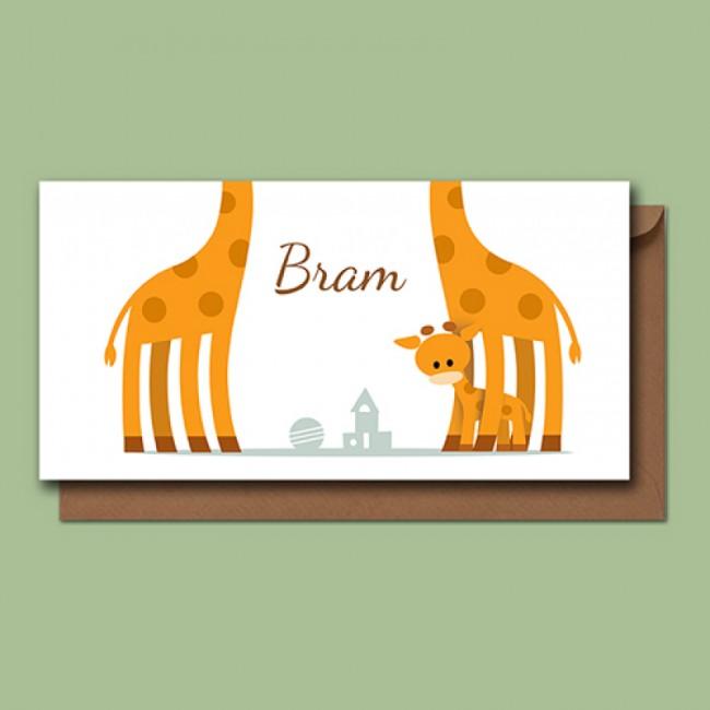 Geboortekaartje Drie giraffen