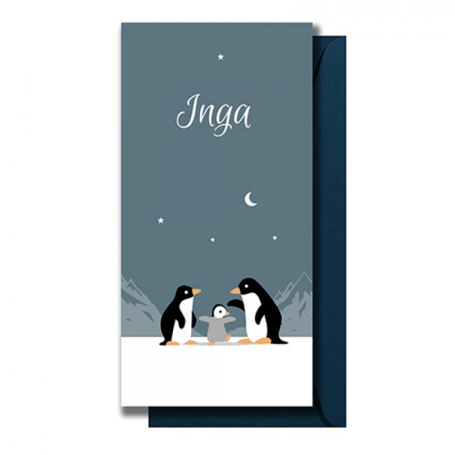 Geboortekaartje Drie pinguïns