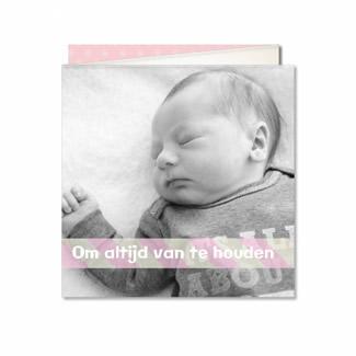 Geboortekaartje Drieluik met foto