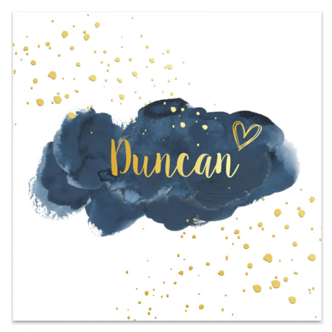 Geboortekaartje Duncan goudfolie kaart