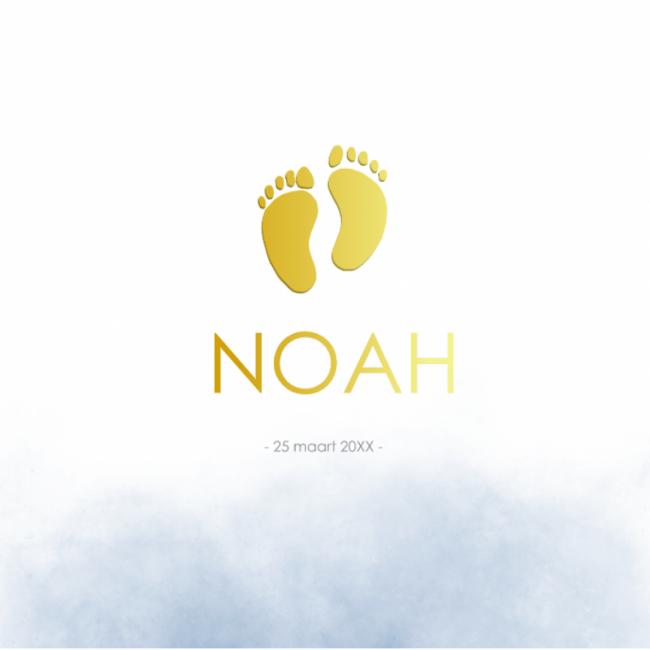 Geboortekaartje Foliedruk voetjes
