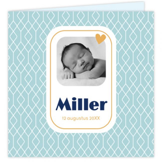 Geboortekaartje foto-geboortekaart dessin