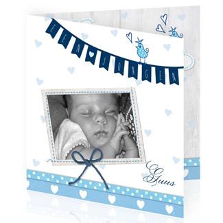 Geboortekaartje Foto jongen