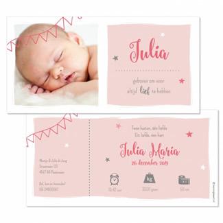 Geboortekaartje Foto met vlakken