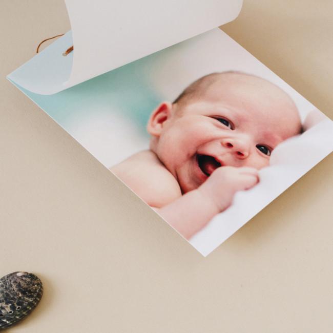 Geboortekaartje Fotokaart met Kalkpapier