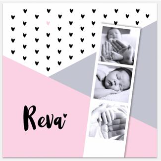 Geboortekaartje Fotostrip Geboortekaart