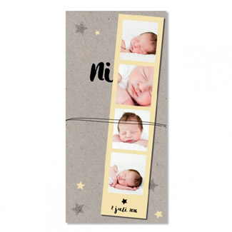 Geboortekaartje Fotostrip |  Niek