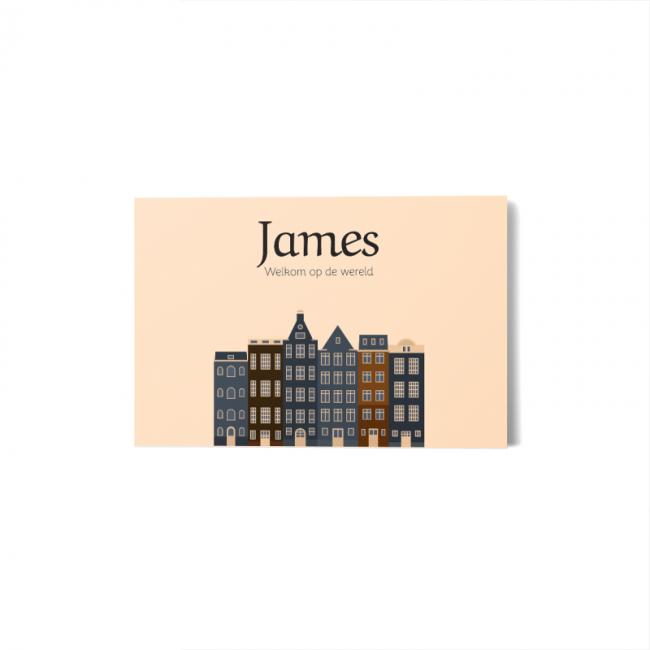 Geboortekaartje Geboortekaart Amsterdam