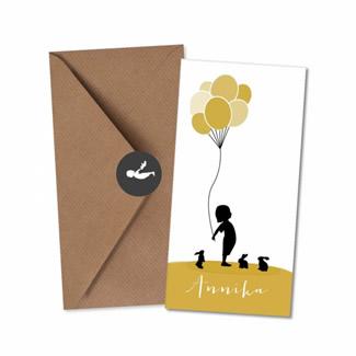 Geboortekaartje Geboortekaart - Annika