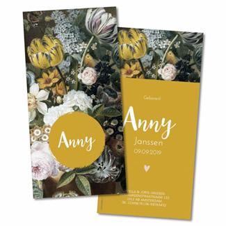 Geboortekaartje Geboortekaart - Anny