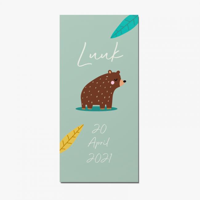 Geboortekaartje Geboortekaart beer