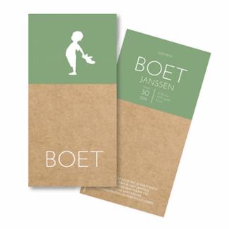 Geboortekaartje Geboortekaart - Boet