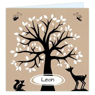 Geboortekaartje Geboortekaart boom / hert