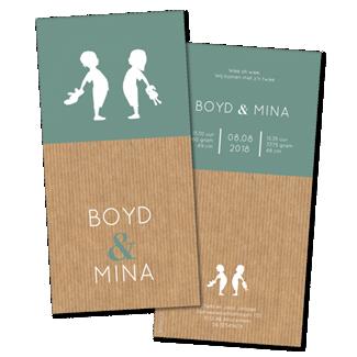 Geboortekaartje Geboortekaart - Boyd Mina