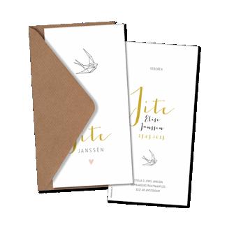 Geboortekaartje Geboortekaart - Jite