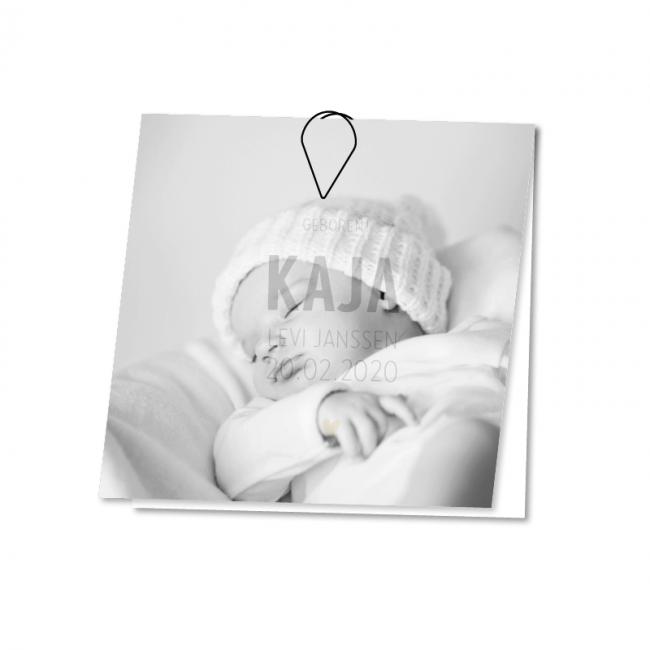 Geboortekaartje Geboortekaart kalk Kaja