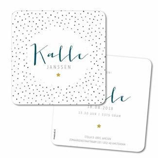 Geboortekaartje Geboortekaart - Kalle