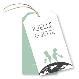Geboortekaartje Geboortekaart Kjelle-Jette