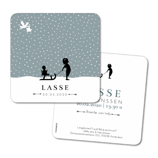 Geboortekaartje Geboortekaart - Lasse