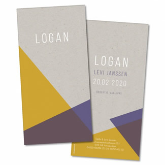 Geboortekaartje Geboortekaart - Logan