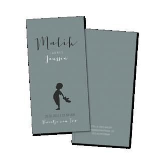 Geboortekaartje Geboortekaart - Malik