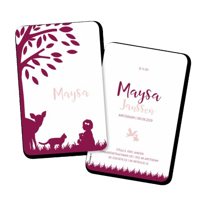Geboortekaartje geboortekaart - Maysa
