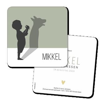 Geboortekaartje Geboortekaart - Mikkel