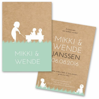 Geboortekaartje Geboortekaart Mikki Wende