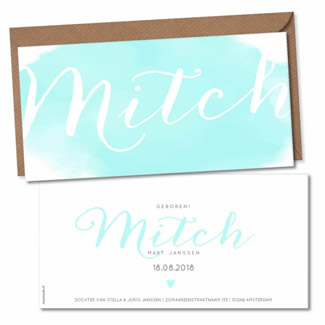 Geboortekaartje Geboortekaart - Mitch