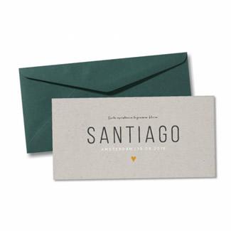 Geboortekaartje Geboortekaart - Santiago