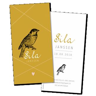 Geboortekaartje Geboortekaart - Sila